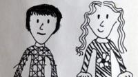 Child's drawing of Mum and dad