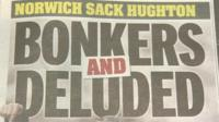 Headline from the Daily Mirror