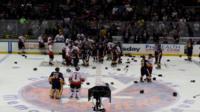 Brawl at ice hockey game