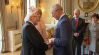 Irish President Michael D Higgins and Prince Charles