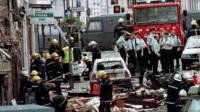 Archive photo showing aftermath of Omagh bombing in 1998