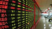 Stock prices in Shanghai