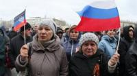Pro-Russia demonstrators