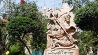 A statue of St George in Palestine