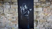 Banksy artwork Mobile Lovers