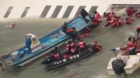 Ferry rescue operation