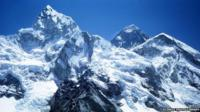 Mount Everest with the Khumbu Glacier in foreground