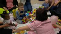 Children's party at the Freeman Hospital, Newcastle
