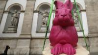 A pink model of Albrecht Durer's 'Young Hare'