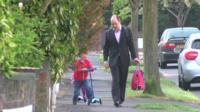 Richard Gormley with his children