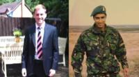 L/Cpl Oliver Thomas and Flt Lt Rakesh Chauhan