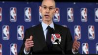 NBA Commissioner Adam Silver addresses the media during a news conference, in New York 29 April 2014