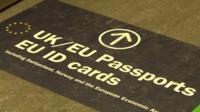 Airport Passport floor marking
