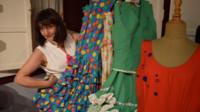 Dressmaker Marta Gonzales