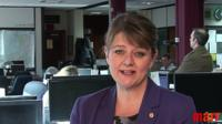 Leader of Plaid Cymru Leanne Wood on The Andrew Marr Show