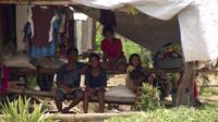 A group of children in Tacloban