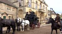 Corsham is doubling as 18th Century Truro for the production