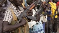 Fighters in South Sudan