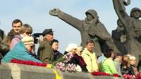 Latvian watch Victory Day celebrations