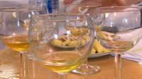 Glasses of cider