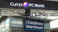 Currys and PC World and The Carphone Warehouse stores
