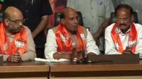 BJP President Rajnath Sing (c)