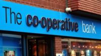 A co-op bank branch sign