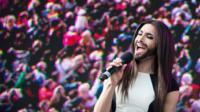 Conchita Wurst performing in Vienna, Austria