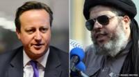 David Cameron and Abu Hamza