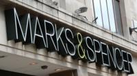 Marks and Spencer shop sign
