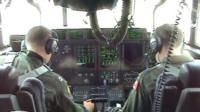Inside US Coastguard plane