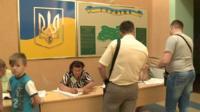 Kiev polling station