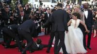 Vitalii Seduik is floored on Cannes red carpet