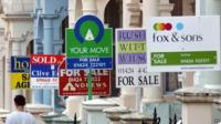 Estate agents for sale signs in Hastings
