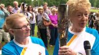Torch bearers in Cheshire
