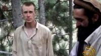 A video grab image from 2010 showed Sgt Bergdahl in captivity