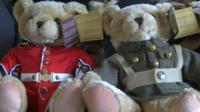 Military teddy bears