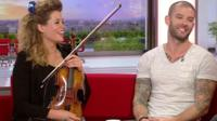 Violinist Lettice Rowbotham and the illusionist, Darcy Oake.