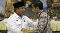 Prabowo Subianto and Joko Widodo