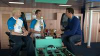 Iwan Thomas and James Saunders speaking to Ben Moore