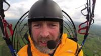 Mike O'Shea in the air