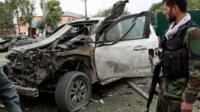 Site of convoy attack in Kabul