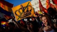 Anti-monarchy demonstration in Madrid