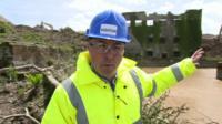 Simon Clemison at the mine