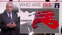James Robbins and map of Iraq and Middle East