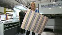 Steph McGovern reports from banknote maker De La Rue