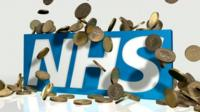 NHS with coins graphic