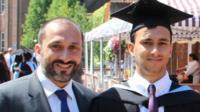 Aidan Husseyin-Sheikh and his father Ilkay Husseyin