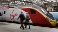 Virgin train at station
