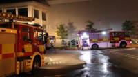 Fire crews at Asos warehouse, Grimethorpe, Barnsley